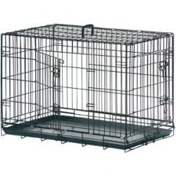 Cage Métal Pliante 2 Portes Bac Plastique